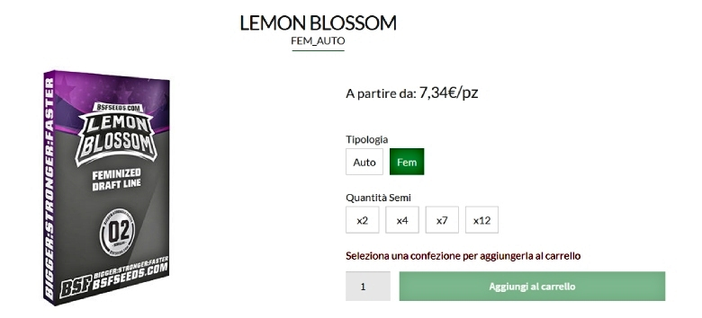 graines de marijuana lemon blossom